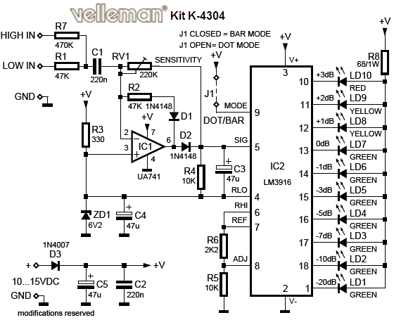 vu led indicator schematic under repository
