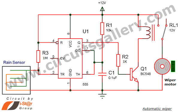 tattoo power supply schematic for wiring automatic rain sensing wiper system using 555 timer under  automatic rain sensing wiper system using 555 timer under