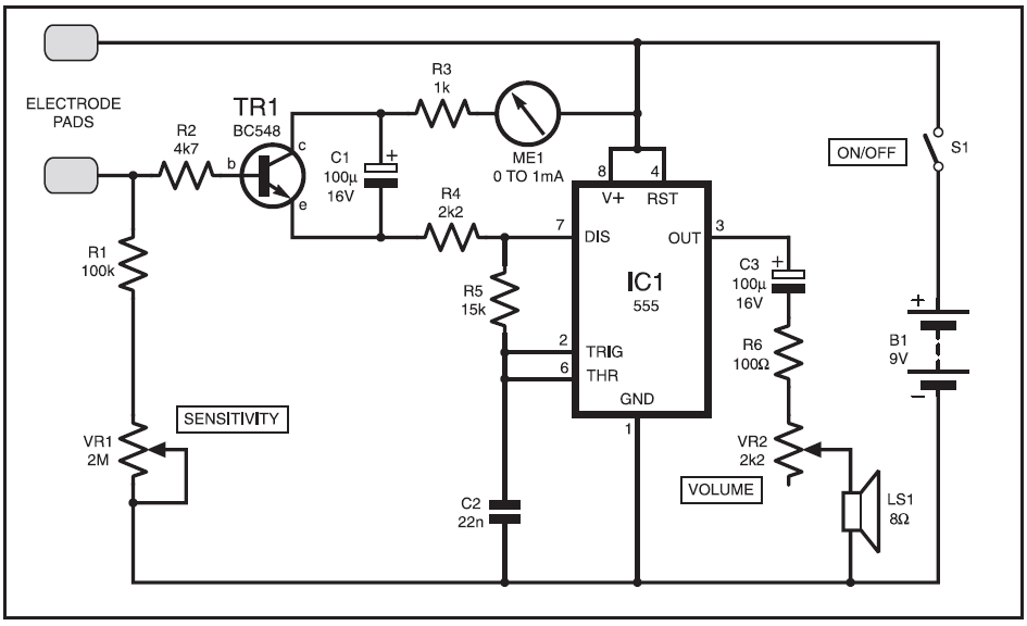 measure your stress level tension meter schematic diagram under repository-circuits