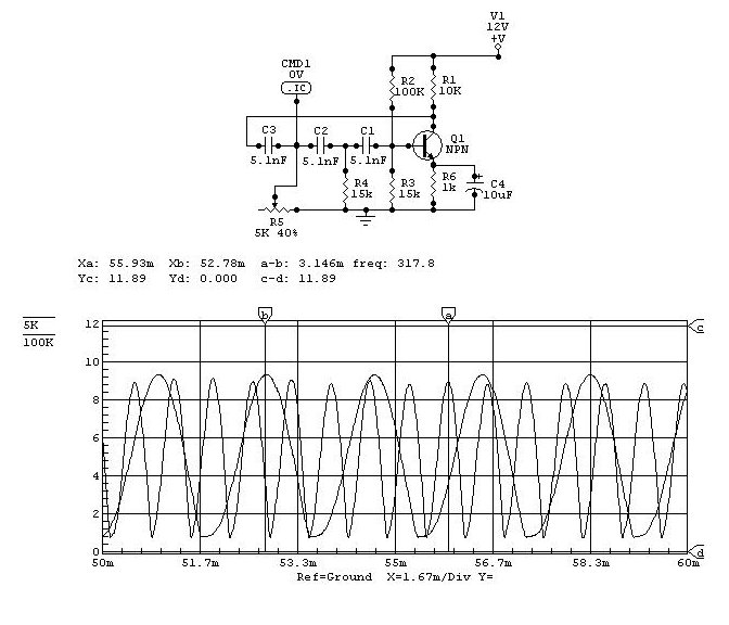 Hartley oscillator circuit - schematic