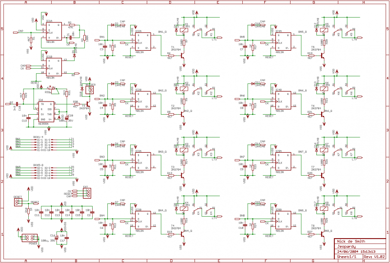Fastest Finger First project - schematic