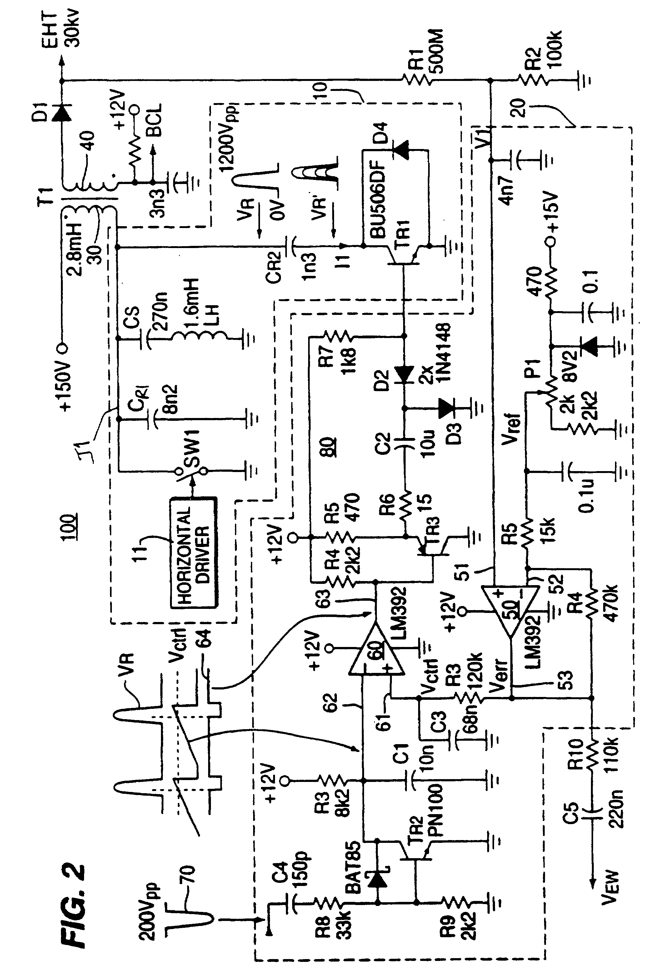 Monolithically integrated telephone circuit for driving wide-band telephone