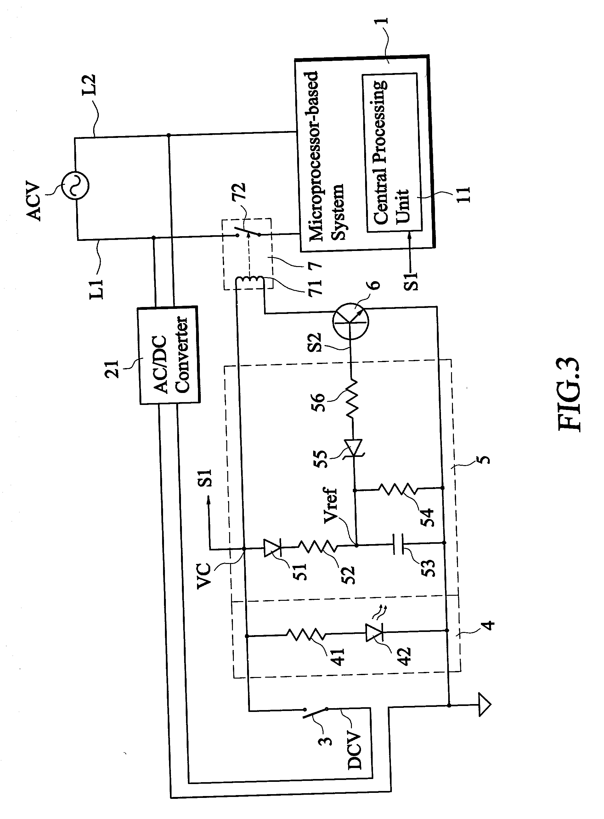 power control circuit with power
