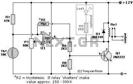 Heat Sensor Circuit using LM741