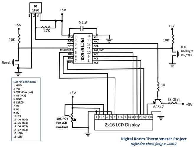 Digital Thermometer - schematic