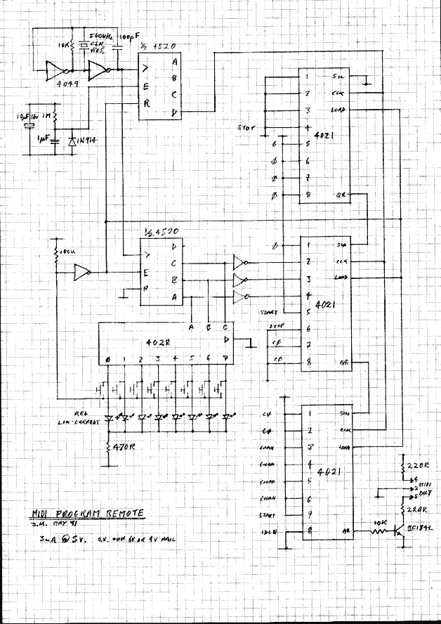 MIDI Program Changer - schematic