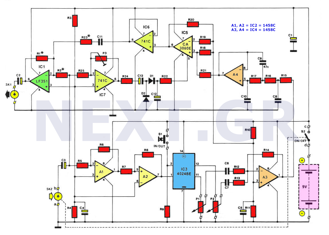 Sine To Square Circuit Converter Circuits Opamp Titles And Descriptions Diagram Tradeofic Sub Harmonic Bass For Electric Guitars
