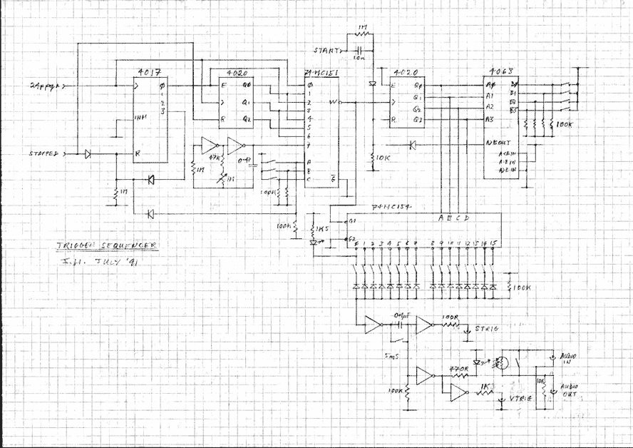 Midi Trigger Sequencer - schematic