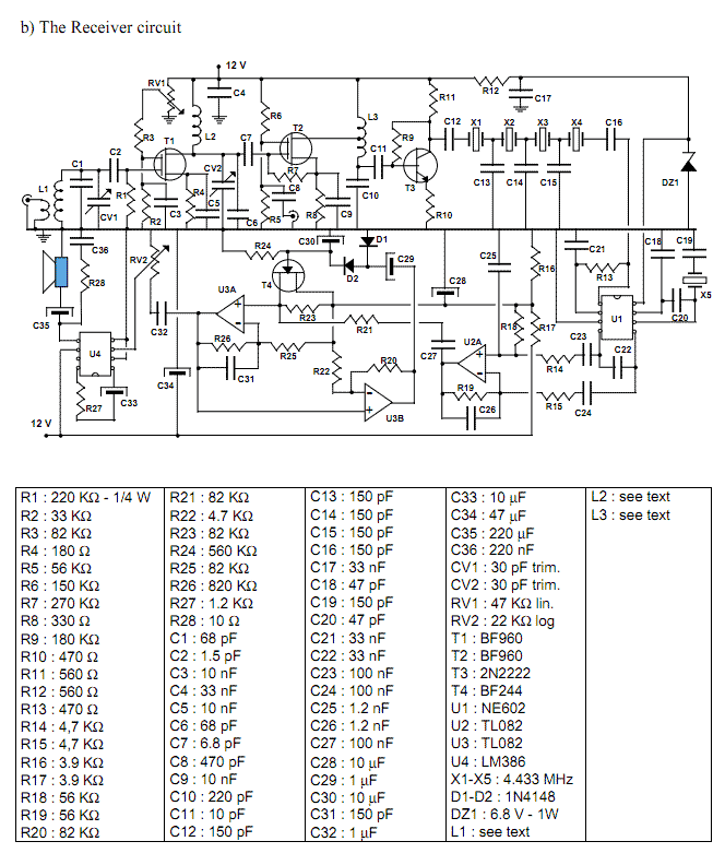 Transceiver for 20 m band - schematic