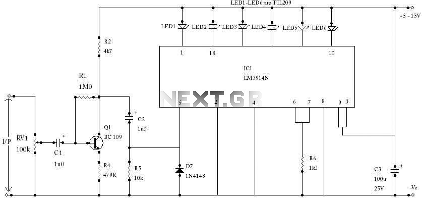 LED VU Meter with LM3914N - img1