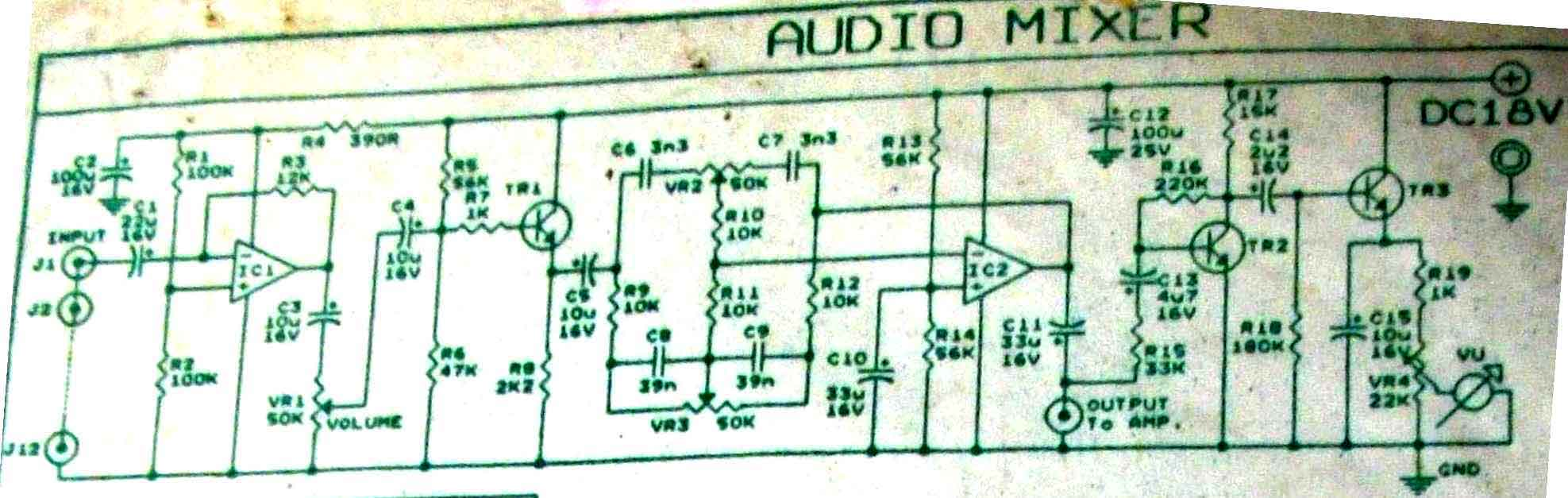 Vu Meter Circuit Counter Circuits Audio Level Electronic And Diagram With Mixer