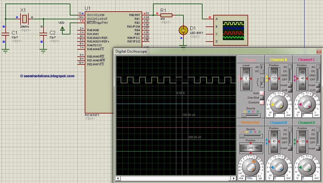 Circuits Gt Pic16f877 Up Down Counter Code And Proteus Simulation
