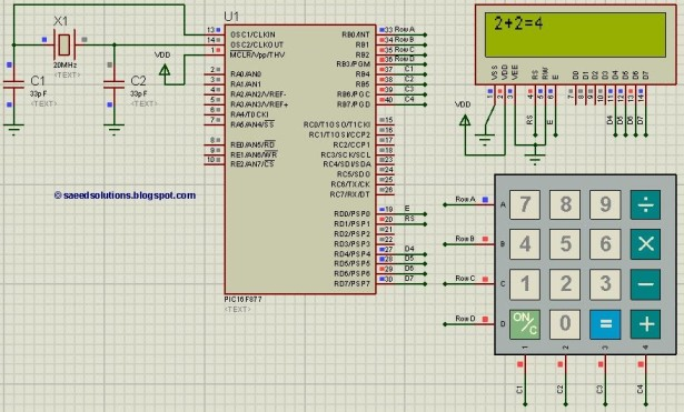 Implementation Of A Simple Calculator Using 8051 Microcontroller
