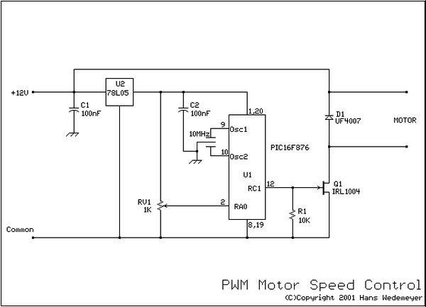 Dc Motor Speed Control Using Pwm Using Pic16f876 Under