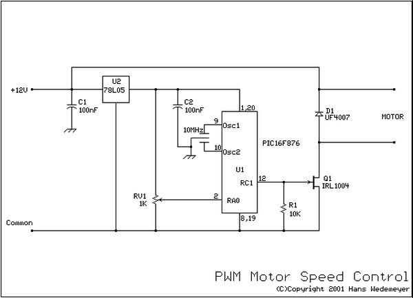 Circuits Dc Motor Speed Control Using Pwm Using