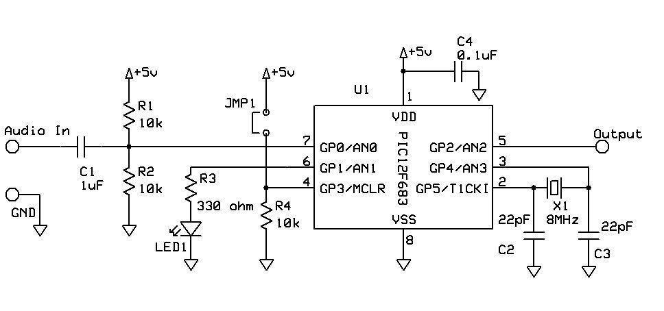 dtmf touch tone decoder using microchip pic microprocessor using pic12f683