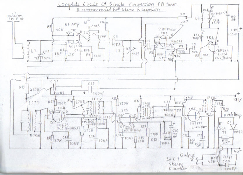 single conversion 10.7mhz pulse counting receiver - schematic