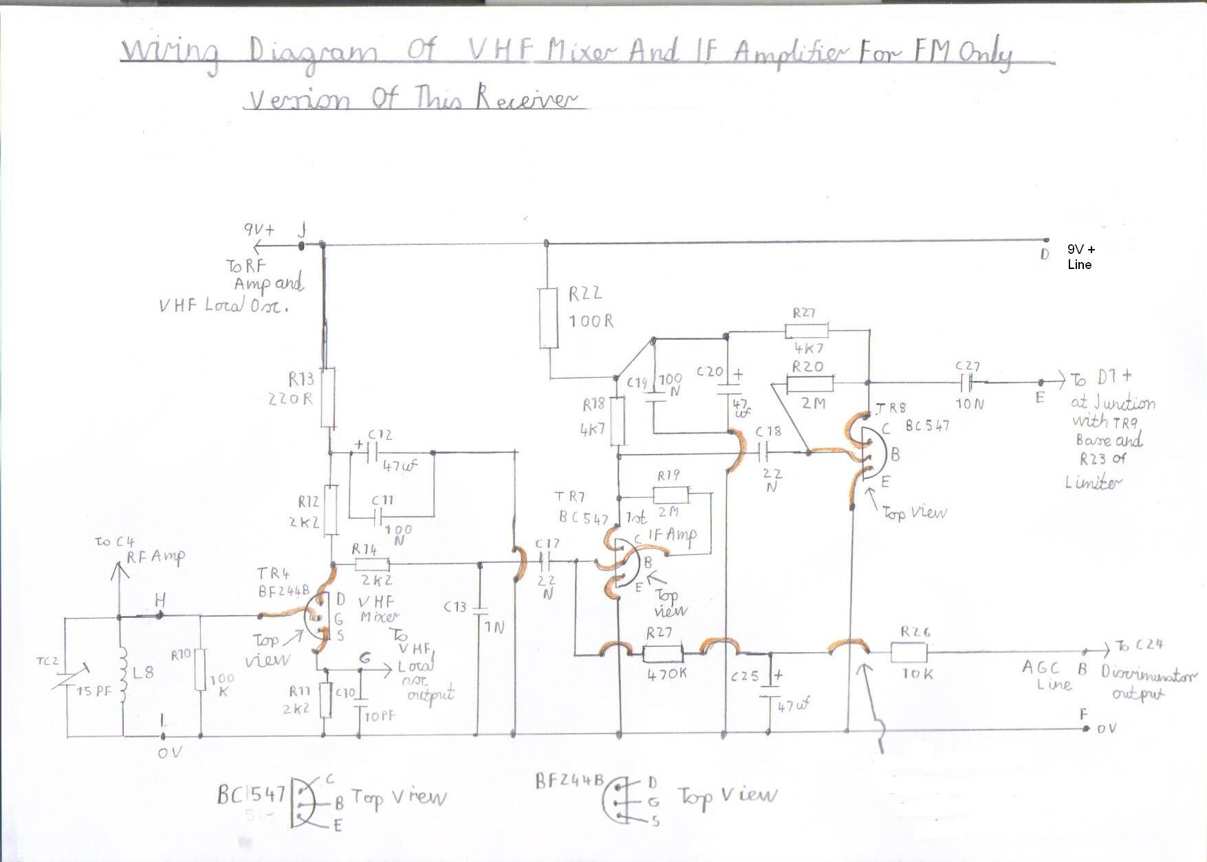 solid state short wave and vhf receiver - schematic