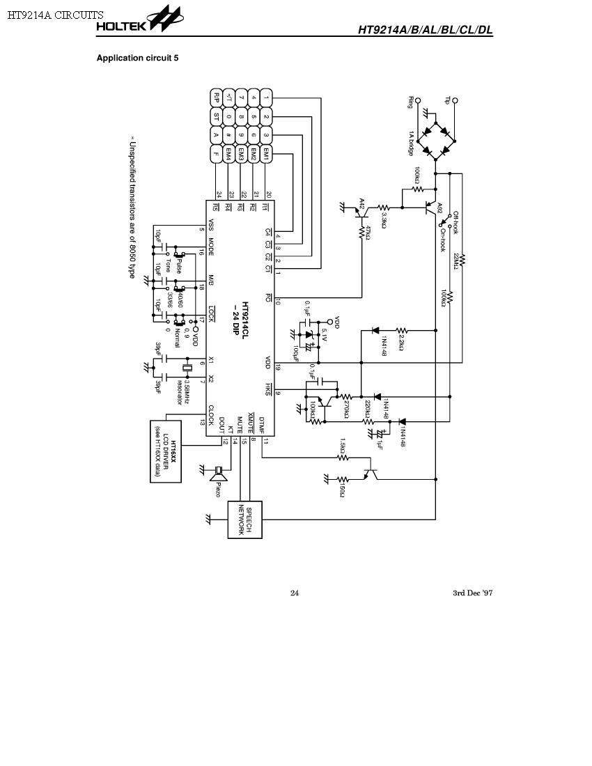 ht9214a circuit schematic circuits