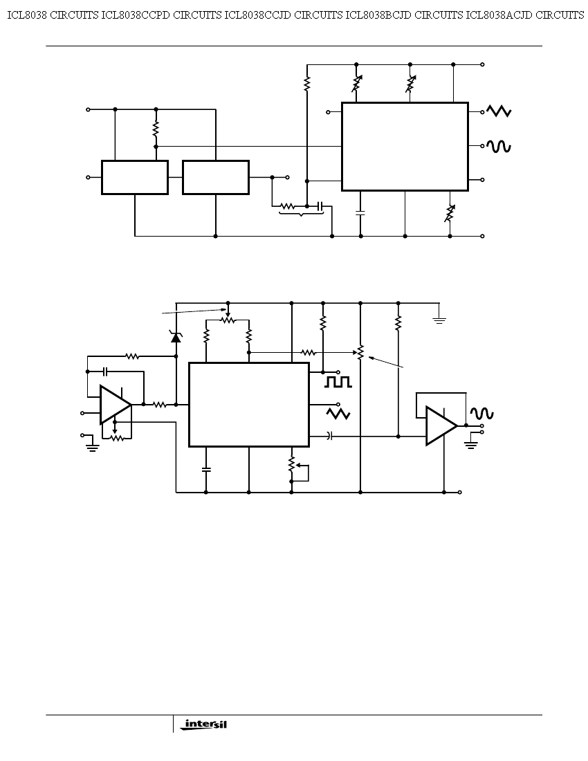 Icl8038 Audio Signal Generator Circuit 9 Waveform Used As Stable Vco In A Phase Locked Circuits
