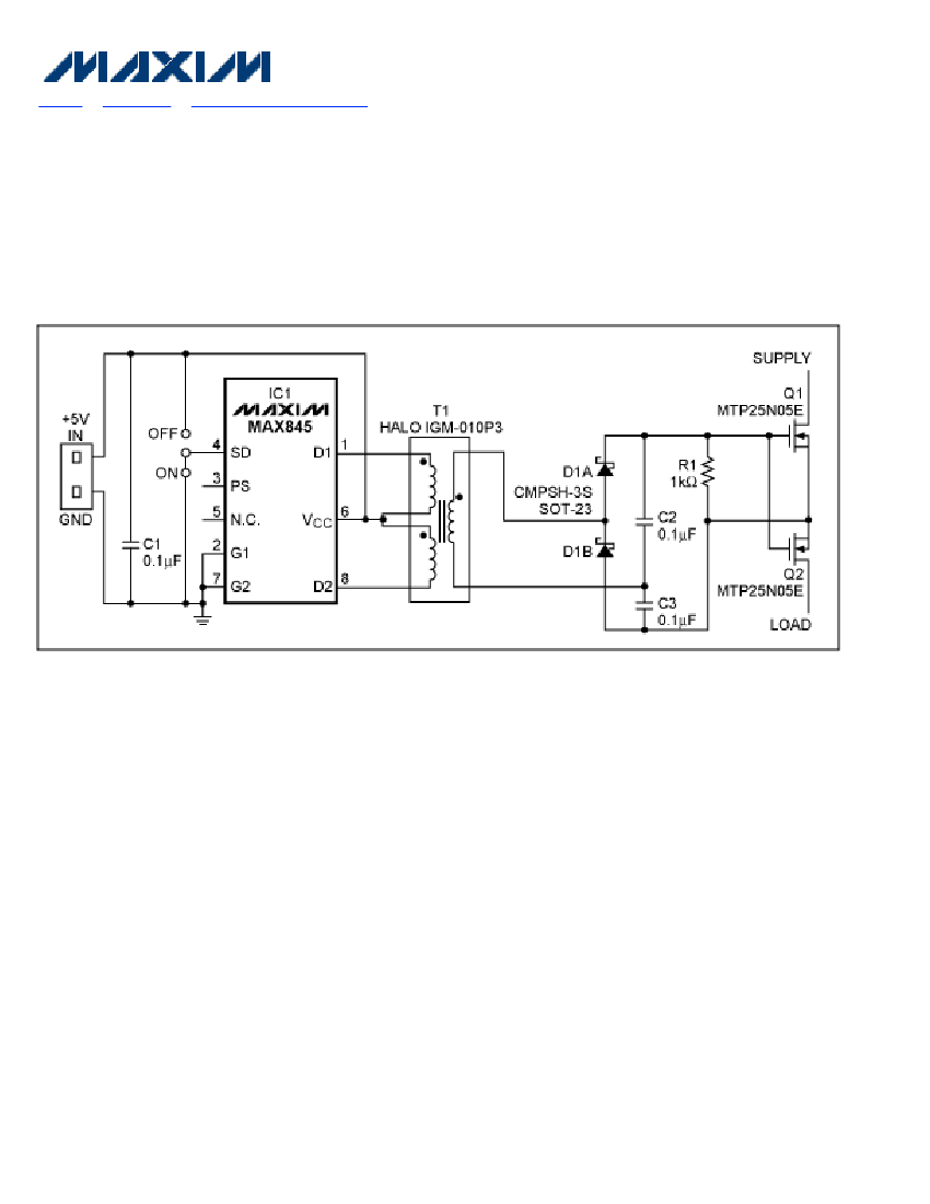 Transformer-driver Ic Controls Bidirectional Switch
