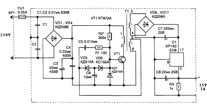 Switch Mode on simple audio amplifier schematic