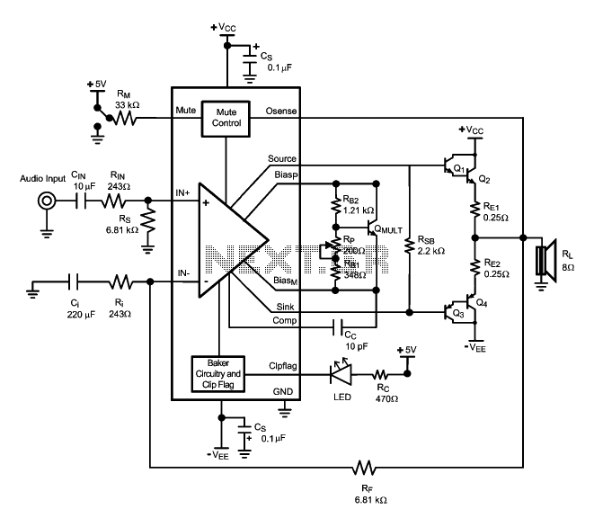 LME49810 Amplifier circuit