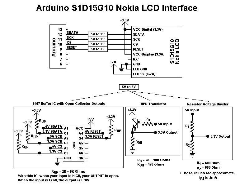 S1D15G10 Nokia LCD - schematic