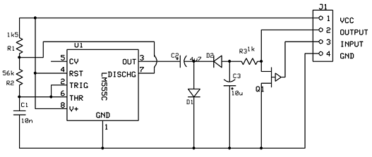 A voltage inverter circuit - schematic