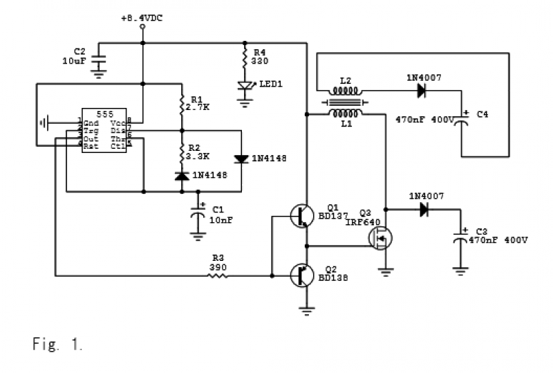 Multiple Capacitor Charger - schematic