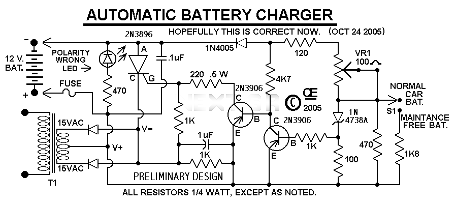 Car Battery Charger - schematic