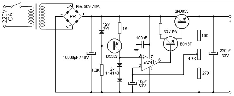 variable 4 a25v power supply