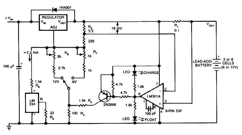 figureyaga - lead acid battery charger circuit schematic - schematic