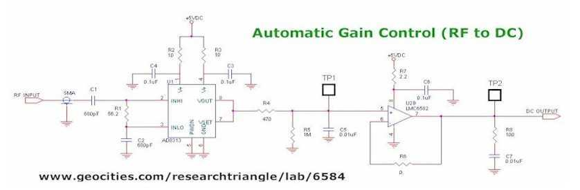 Automatic Gain Control ( AGC )  - schematic