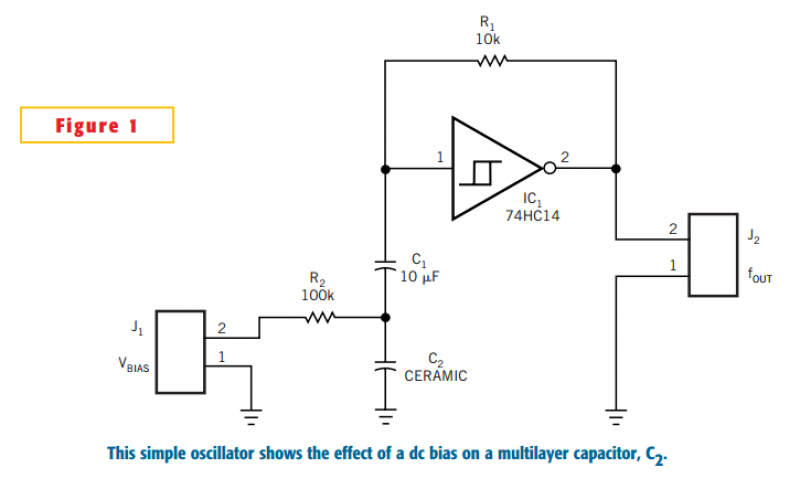 Multilayer capacitor doubles as varactor - schematic