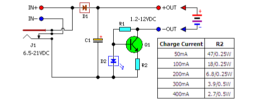 Low Cost Universal Battery Charger Schematic Under