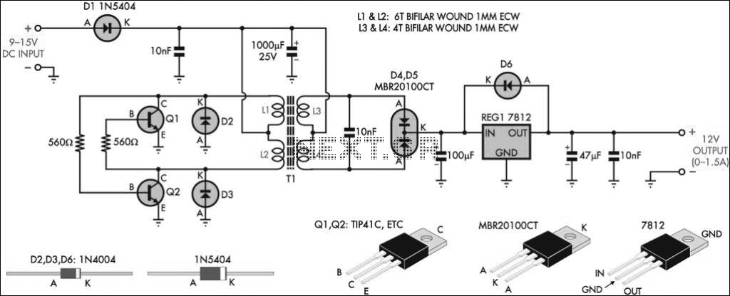 Inverter circuit page 2 power supply circuits next 12v regulated inverter circuit diagram cheapraybanclubmaster Gallery