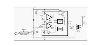 Laser Controlled ON - OFF Switch - schematic