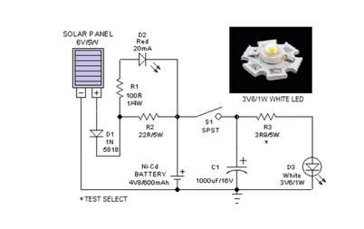 Portable Solar Lantern - schematic