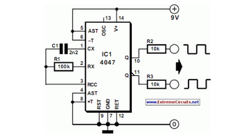 Liquid-Crystal Display (LCD) Tester - schematic