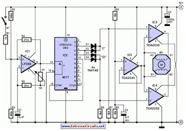 Stepper Motor Controller - schematic