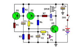 Powerful Security Siren - schematic