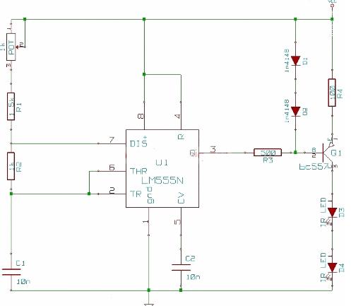 Infrared Remote Control Jammer - schematic