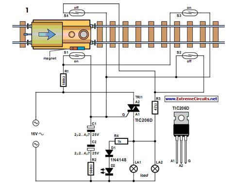 Power Flip-Flop Using A Triac - schematic