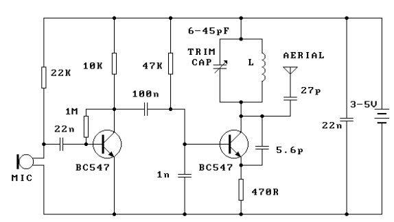 300m FM Transmitter - schematic