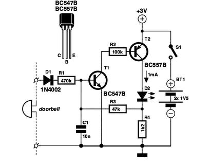 Doorbell MemoryCircuit - schematic