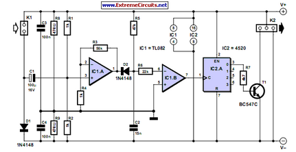 Speed Pulse Generator For PC Fans - schematic