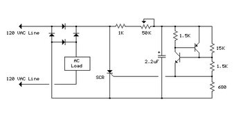 120V AC Lamp Dimmer - schematic