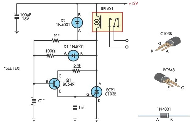 Handy Time Delay With Relay Output - schematic