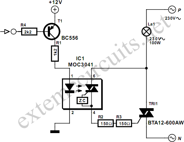 DC Control for Triacs - schematic